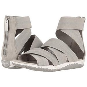 Sorel Out N About Plus Gladiator Sandals Gray 8.5